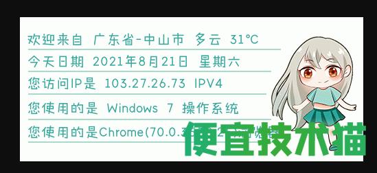 网站添加显示IP信息图片  IP信息图片 第2张