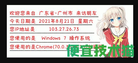 网站添加显示IP信息图片  IP信息图片 第1张